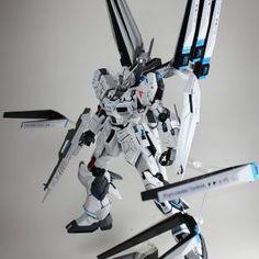 MG Nu Gundam Ver. Ka W Funnel Destroyer - Customized Build Modeled by kouich Gundam Wing, Gundam Art, Gundam Astray, Gundam Wallpapers, Gundam Mobile Suit, Gundam Custom Build, Man Of War, Gunpla Custom, Mecha Anime