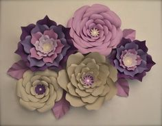 Giant Paper Flowers-Set of 5 by LuxyFlowers on Etsy