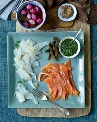 Three-day brined lox with anise-herb sauce by Matthew Dillon of Sitka & Spruce (Seattle, WA). Major ♥.