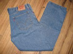 Levis 505 Mens Levi Blue Jeans 38 X 32 Classic Regular Fit Straight Leg  #Levis #ClassicRegularFitStraightLeg