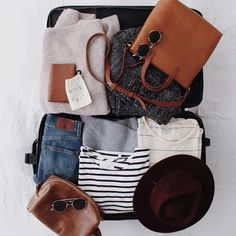 travel. what's in my suitcase.