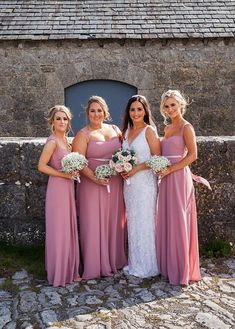 Linda's gorgeous bridesmaids in our wear our Folkster 'Milla' gown which is available to try in our main Store :) Bridesmaids, Bridesmaid Dresses, Wedding Dresses, We Wear, How To Wear, The Incredibles, Gowns, Bridal, Store
