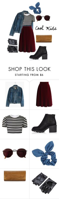 """""""Cool Kids"""" by pride-stuff ❤ liked on Polyvore featuring Madewell, Chicwish, Topshop, River Island, Ray-Ban, Dorothy Perkins and Inge Christopher"""