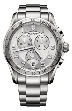 Victorinox Swiss Army® 'Chrono Classic XLS' Bracelet Watch, 45mm (Regular Retail Price: $695.00) available at #Nordstrom