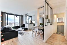 Situé à Boulogne-Billancourt, ce loft de 43m2 a été entièrement revu par la décoratrice d'interieur Laurence Garrisson.