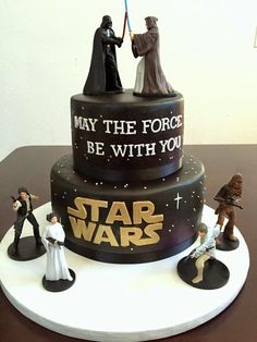 Excellent Picture of Star Wars Birthday Cake . Star Wars Birthday Cake Create Your Next Video In 60 Seconds Or Less In 2018 Food Star Wars Wedding Cake, Star Wars Birthday Cake, Birthday Cupcakes, Birthday Cakes For Boys, 9th Birthday, Wedding Cakes, Bolo Star Wars, Star Wars Cake, Star Wars Cupcakes