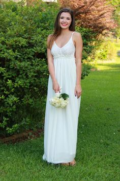 Pretty Natural Maxi Dress: Off White
