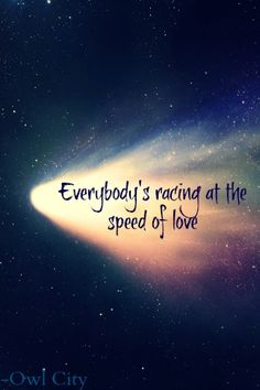 speed of love -- owl city. Love this song!!! It's so upbeat, and it just makes you feel happy (: