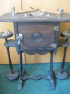 Antique 1920s Edwardian Wood Cigar Stand on Etsy, $400.00