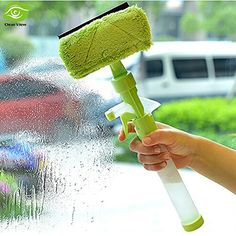 Magic Spray Type Cleaning Brush Glass Wiper Window Cleaner Car Window Cleaning Washing Brush -- Click image for more details.