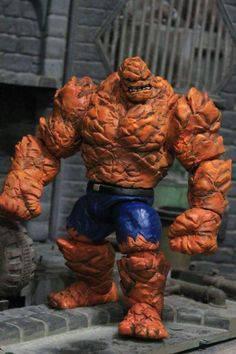 Ben Grimm custom action figure from the Marvel Legends series using MS Hulk as the base, created by rexticon. Marvel Comics Superheroes, Marvel Characters, Marvel Wolverine, Marvel Dc, Deadpool, Marvel Statues, Action Toys, Mundo Comic, Custom Action Figures