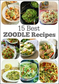 15 Best Zoodle Recipes (Recipes using spiralized Zucchini Noodles!)