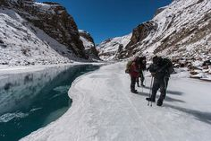 Chadar trek route connects villages in the Zanskar valley deep in the mountains with Chilling and the frozen Zanskar River.