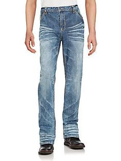Affliction Cotton Blend Faded Jeans - Compton - Size
