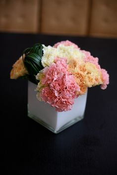 Pave carnation arrangement from design sponge