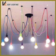 Nordic Lustres Spider Chandelier Lighting Lamparas De Techo Vintage Vaso De Vidro Lamparas Decoracion Hogar E27 Lustre Para Sala