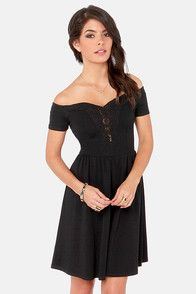 Moonlit Balcony Black Lace Dress