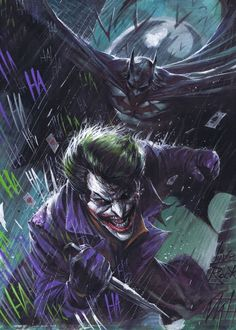 Batman and the Joker by Francesco Mattina