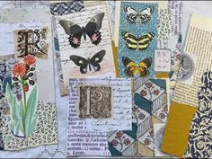 How to COLLAGE my TOP TIPS for junk journals - YouTube Glue Book, Art Journal Techniques, Nature Journal, Journal Covers, Collage Art, Collages, Altered Books, Scrapbook Paper, Scrapbooking