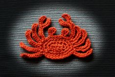 Ravelry: sea creatures applique 1 - octopus, crab, jellyfish pattern by Ramona Byers
