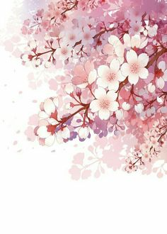 Blossom is very nice🌸 Flower Wallpaper, Wallpaper Backgrounds, Watercolor Flowers, Watercolor Paintings, Pink Drawing, Drawing Flowers, Art Japonais, China Art, Anime Scenery