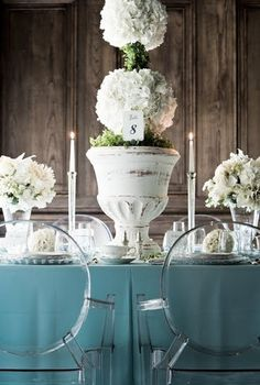 white topiary centerpiece
