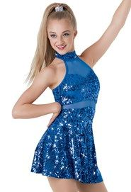 """Royal Blue Sequined Dress with Sheer Detail - """"Can't Turn You Loose"""""""