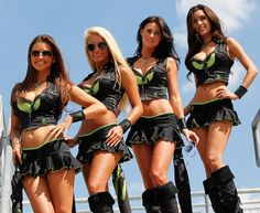 PADDOCK PRINCESSES ... It's not just the high powered machines that set the pulses racing at MotoGP