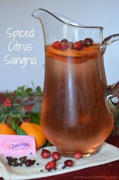 Spiced Citrus Sangria Drink Recipe - the perfect recipe to celebrate the new year! #SweetNLowStars #ad