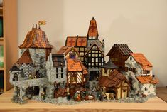 Medieval Houses, Medieval Town, White Building, Lego Building, Lego Sets, Lego Burg, Minecraft, Play Wood, Planet Coaster