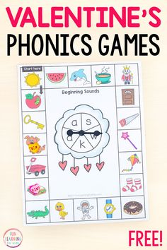 Board games 212021095098282318 - These Valentine's Day phonics board games are free printable phonics games for kids who are learning letter sounds. Great for literacy centers! Source by funlearningforkids Phonics Games For Kids, Alphabet Activities Kindergarten, Educational Games For Kids, Board Games For Kids, Phonics Activities, Learning Letters, Fun Learning, Preschool Themes, Kindergarten Reading