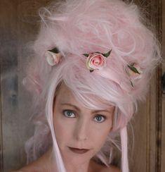 Marie Antoinette Wig // Ooak Pink Wig Wearable