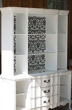 desk built in with china hutch diy - Google Search