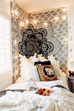This NEW Fame tapestry is dreamy  Thank you for designing with our products @kaitlynjohnsondesign !✨ Shop Bohemian at  LadyScorpio101.com for exclusive deals @LadyScorpio101 ||