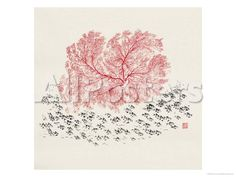 Red Tree Giclee Print by Feng Yan - AllPosters.co.uk