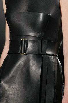 Calvin Klein, give me structure, give me leather! Fall 2013