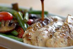 One Pan Balsamic Chicken | One Pan Balsamic Chicken- (asparagus, broccoli,etc. for grn. beans)