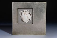 Mixed Media Framed Ceramic Art Silver White by Nancy Monsebroten at www.whiteearthstudio.etsy.com