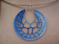 Beaded Cobweb Pendant