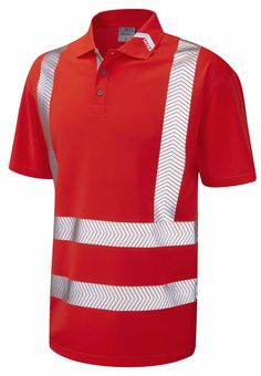 EN/ISO 20471 Class 2 ULTRA Safety PPE Coolviz Short Sleeve Polo Shirt 2XL, 3XL, 4XL, 5XL, 6XL Red £30