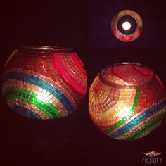 Homemade mosaic  candlestick