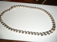 "Sterling Silver Diamond Cut San Marco Milor Italy Necklace 48 grams 17.5"" long"