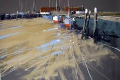 Tony Allain,  The Quay pastel on sanded paper 24 X18in