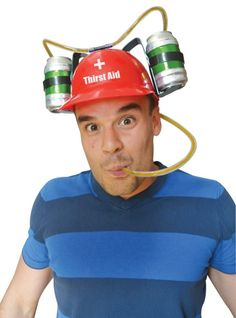 The coolest fun beer hat, drink your beer or any beverage in a can from your hat. Two cans on a hat, loads of fun and looks cool, novelty hat. Cheap Kitchen Units, Party Gadgets, Novelty Hats, Home Gadgets, Kitchen Gadgets, Presents For Men, Looks Cool, Kitchenware, Tableware