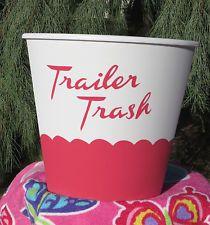 Item image; Trailer Trash Can for Vintage Canned Ham Travel Trailers $24.95 eBay