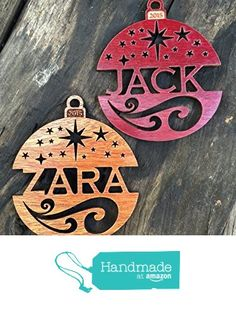 Personalized Christmas Ornament 2015 Solid Wood Starry Nights Design from John Leslie Studios http://www.amazon.com/dp/B015NLBF8G/ref=hnd_sw_r_pi_dp_eqypwb0N714HV #handmadeatamazon