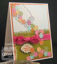 Happy Monday card by Cathy Tidwell- Gorgeous!