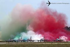 The Italian Air Force national display team Frecce Tricolori Aermacchi MB-339 trainers make smoke on the runway before take off. Held at Malta International Airport in the weekend of Sept. 27-28, the traditional Malta International Airshow featured some really interesting visitors.