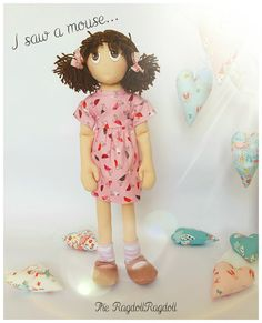 Handmade Rag Doll 'I saw a mouse' Adorable by TheRagdollRagdoll