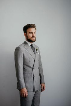 Double breasted grey glencheck wedding suit by Monokel Berlin Wedding Suits, Elegant, Outfit, Double Breasted, Berlin, Suit Jacket, Grey, Jackets, Fashion